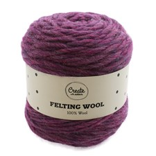 Adlibris Felting Wool 100g Purple Melange A119