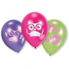 Happy Owl, Lateksballonger, 6 stk.