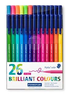 Triplus® color 26-pakkaus,  1 mm vesipohjainen huopakynä