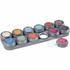 Ansiktsfärg Palett Pärlemor 12x2,5 ml