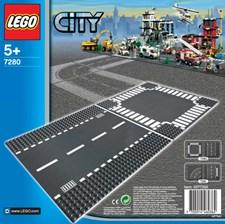 Rak väg & korsning, LEGO City (7280)