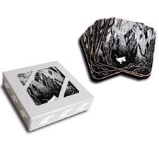 Opto Design Running Mumin Glasunderlägg 6-pack 10 x 10 cm Svart