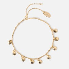 Gullarmbånd med skjell charms