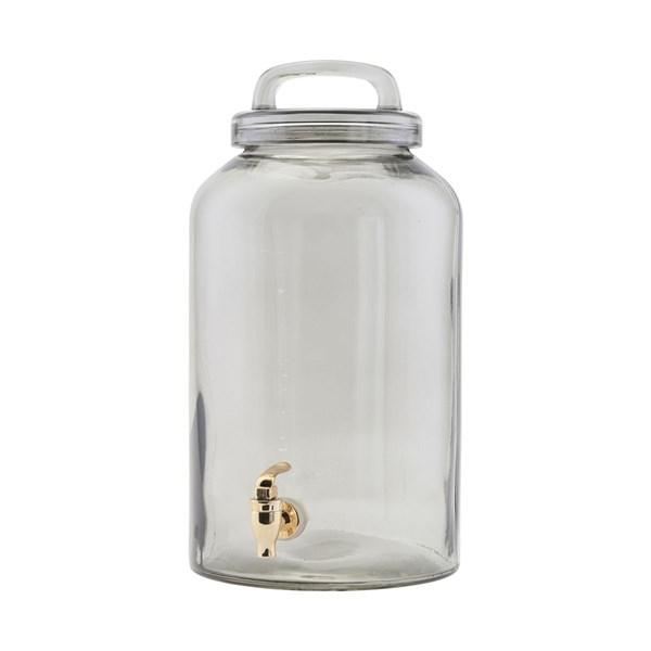 House Doctor Ice Cold Glasbehållare Med Tappkran 8.5 L Grå