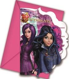Disney Descendants, Invitasjoner, 6 stk.