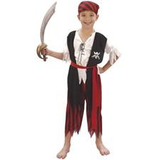 Piratpojke Maskeraddräkt Barn (122-134)
