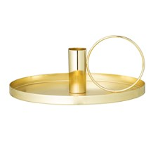 Bloomingville Ljusstake Metall Diameter 19 cm, Höjd 8 cm Guld