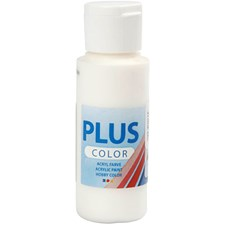 Plus Color-askartelumaali, 60 ml, off white