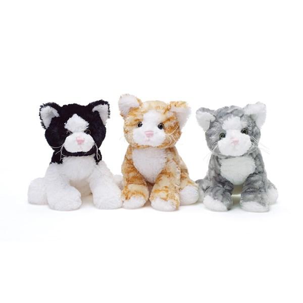 Teddy Cat  Grå vit  Teddykompaniet - gosedjur