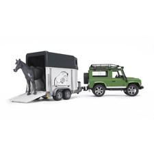 Land Rover Defender med hest og tilhenger, Bruder