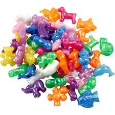 Plastpärlor Figurmix stl 25 mm 125 ml