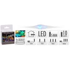 Ljusslinga Silver, 10 LED, Multicolor