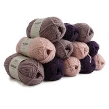 Lahjapakkaus Adlibris Alpakkalanka 50g Pink & Purple