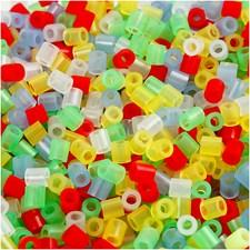Putkihelmet, koko 5x5 mm, aukon koko 2,5 mm, 6000 laj., läpikuultavat värit