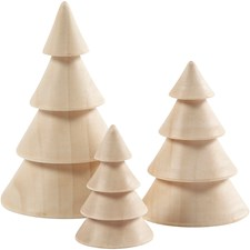 Joulukuuset, kork. 5+7,5+10 cm, halk. 3,5+5,4+6,7 cm, Keisaripuu, 3kpl