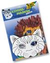 Lapset naamarit värjäämiseen 6 naamiota per pakkaus, kissa