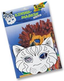 Barnmasker för färgläggning 6 masker per fp katt