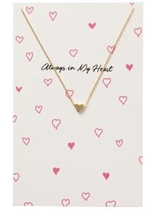 Halsband, Miriam, Heart, Guldfärg