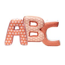 ABC-kuddar EDVIN, Rosa multi, Kids Concept