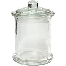 Lasipurkki, 330 ml, halk. 8 cm, kork. 14,5 cm, 10kpl