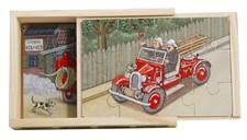 Brandbilar 4x träpussel