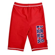 UV-shorts Sealife, Röd, storlek 110-116, Swimpy