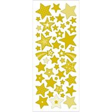 Klistermärken Stjärnor 1 ark Guld