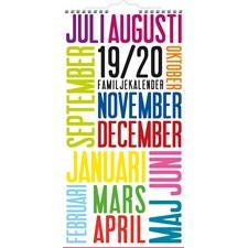 Burde Väggkalender 20-21 Familjekalender TrendArt