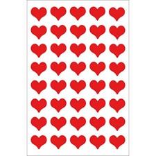 Klistremerker, Filt, Hjerter, Medium, Rød, 10 x 19 cm