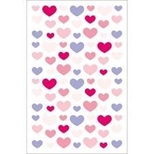 Klistremerker, Filt, Hjerter, Medium, Rød Violett, 10 x 19 cm