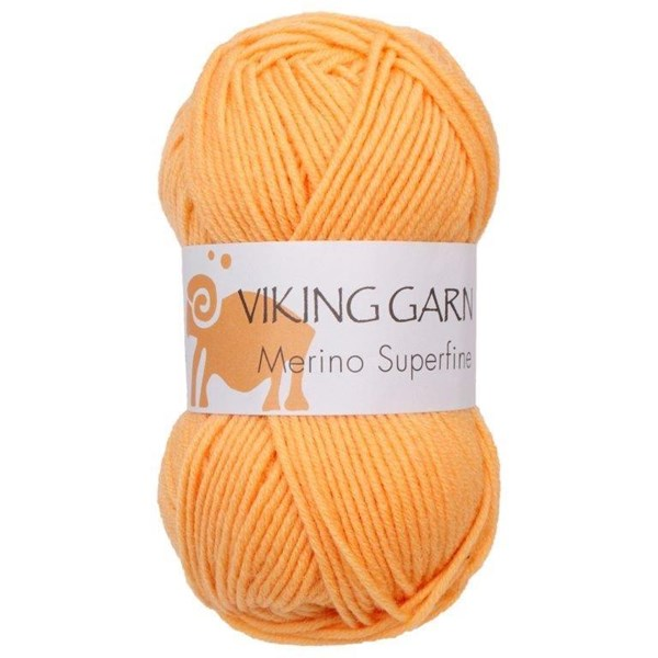 Viking of Norway Merino Superfine Garn Merinoull 50g Gul 640