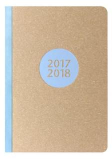 Kalender 2017-2018 Letts Letterpress A5 V/U blå