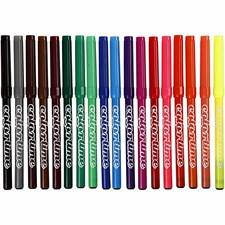 Colortime Tusj, strektykkelse: 2 mm, ass. Farger, 18stk.