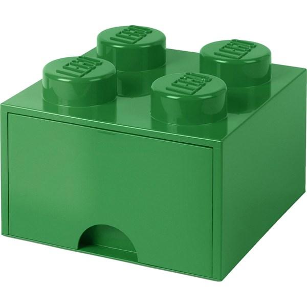 Lego Förvaringslåda 4  Mörkgrön - barnrumsförvaring