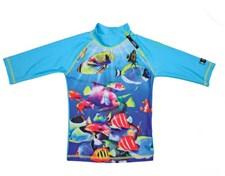 UV-tröja Fisk Turkos, 110-116 cl (L), Swimpy