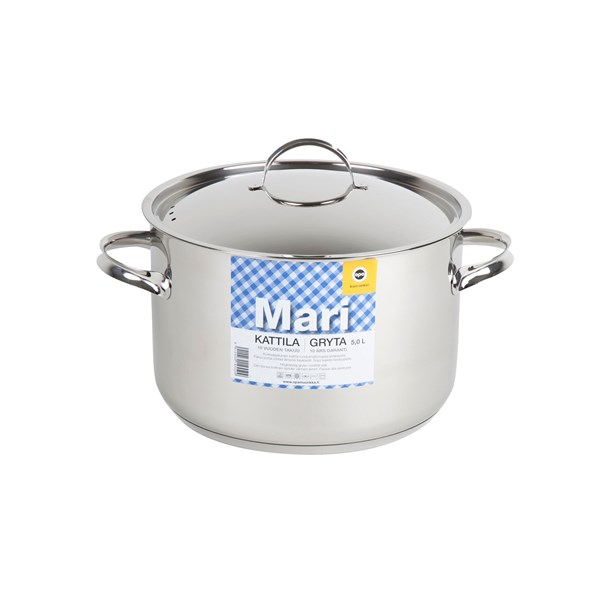 OPA Mari Gryta 5 L Rostfritt Stål  Opa (silver) - kastruller & grytor