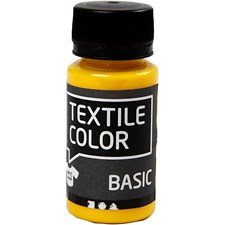 Textile Color Basic, 50 ml, peruskeltainen