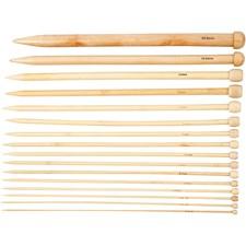 Strikkepinner , L: 35 cm, nr. 2,5-20 , 16par