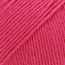 Drops Cotton Merino Uni Colour Garn Ullmix 50g Cerise 14