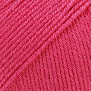 Drops Cotton Merino Uni Colour Garn Ullmix 50g Cerise 14