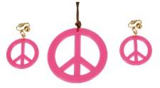 Smykkesett Rosa Fredstegn