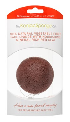 Premium Facial Puff with French Red Clay