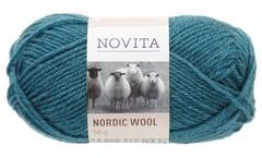 Novita Nordic Wool Garn Ullgarn 50 g, petrol 180
