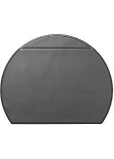 Skrivbordsunderlägg Oval Plus med Fickklaff 65x52 cm Svart