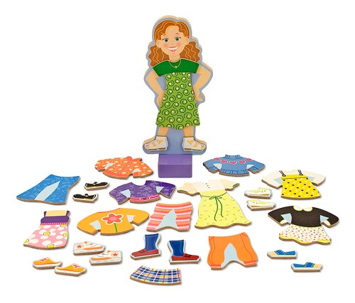 Maggie Leigh Magnetic Dress-up set  Melissa & Doug - dockor & tillbehör