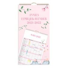 Väggkalender 21-22 Annies Familjekalender Burde