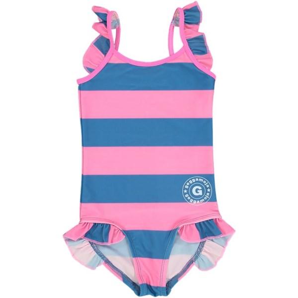Baddräkt  Blå rosa  Geggamoja - badkläder & uv-kläder