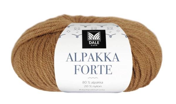 Dale Garn Alpakka Forte Garn 50 g Currygul melert 702