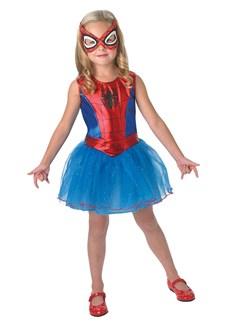 Maskeraddräkt Spider-Girl, Strl 7-8 år