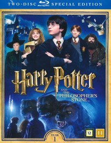 Harry Potter 1: De Vises Sten + Documentary (2-disc) (Blu-ray)
